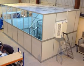 Pressure Tech Installs new ISO8 Clean Room