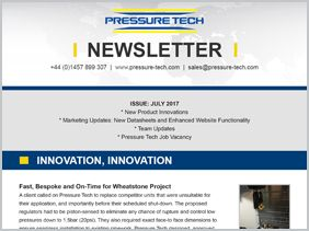 Pressure Tech Newsletter (July 2017)